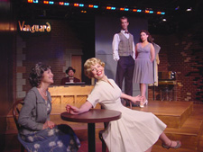 Bonnie Black, Mark Evans, Pheonix Vaughn, Adam Harrington, and Catherine LeFrere in a scene from  <em>The Judy Holliday Story</em>